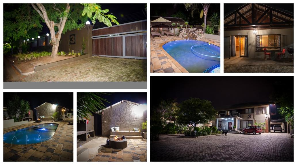 garden night-collage